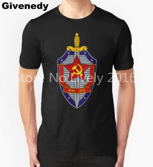 New 2016 Summer Style Printed CCCP Russian T Shirts USSR Soviet Union T shirt KGB Moscow T Shirt Cotton Tops Tees #Affiliate