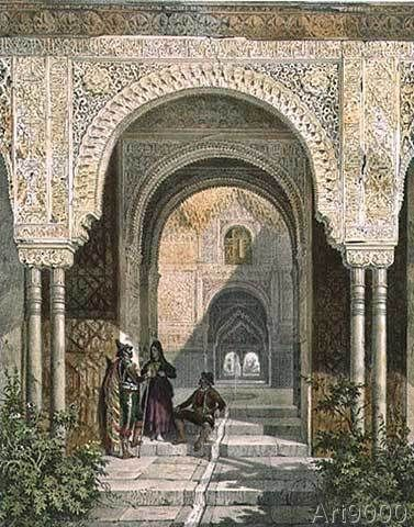 Leon Auguste Asselineau - The Room of the Two Sisters in the Alhambra, Granada, 1853