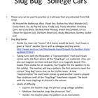 Slug Bug Game: re practice