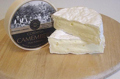 Cornish Camembert - Cornish Country Larder, Cornwall  This is a delicious creamy soft cheese which is full of flavour. The rind is soft and white, the smell is quite gentle and the flavour strong and definate.