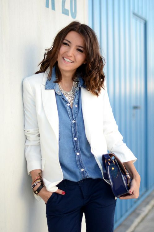 Excellent 17 Best Ideas About White Blazer Outfits On Pinterest  Blazer Jeans Look Ca
