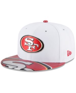New Era Boys' San Francisco 49ers 2017 Draft 59FIFTY Cap - White/Red 6 3/4