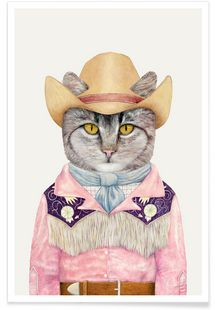 Country Cat - Animal Crew - Premium poster