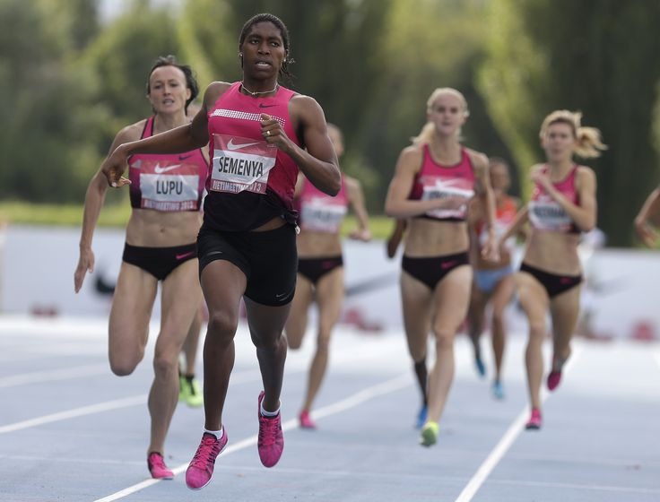 """Caster Semenya, the 2012 Olympic silver medalist in the women's 800 meters who became famous during the very public and deeply botched handling of questions concerning her gender. 'Just consider that for a second—consider the very real possibility that to make Semenya more of a """"woman,"""" the sport decided to make her less of an athlete.'"""