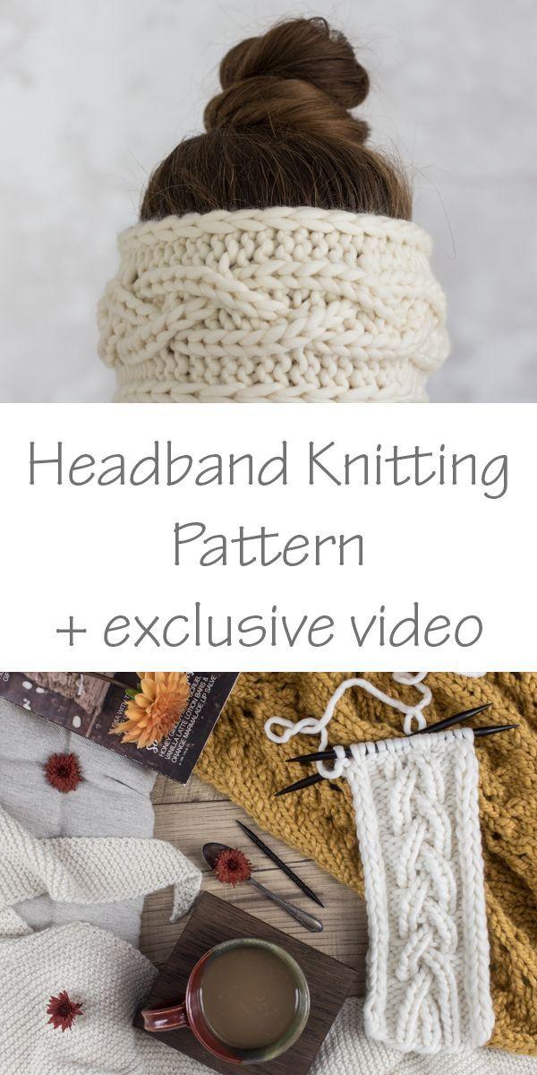 Headband Knitting Pattern : Rib Cable Knit Stitch : ENJOY by Brome ...