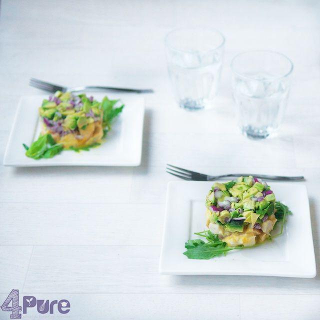 Kerst 2014 koud voorgerecht: Gerookte kipfilet met avocado | 4Pure by Andrea