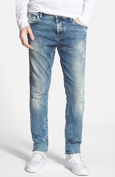 $78, Mavi Jeans James Skinny Fit Jeans. Sold by Nordstrom. Click for more info: https://lookastic.com/men/shop_items/315395/redirect
