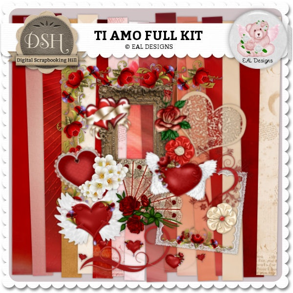 Ti Amo Kit by EAL Designs : DSH: Digital Scrapbooking Hill - high quality CU and PU elements, exclusive products, kits, freebies and more...