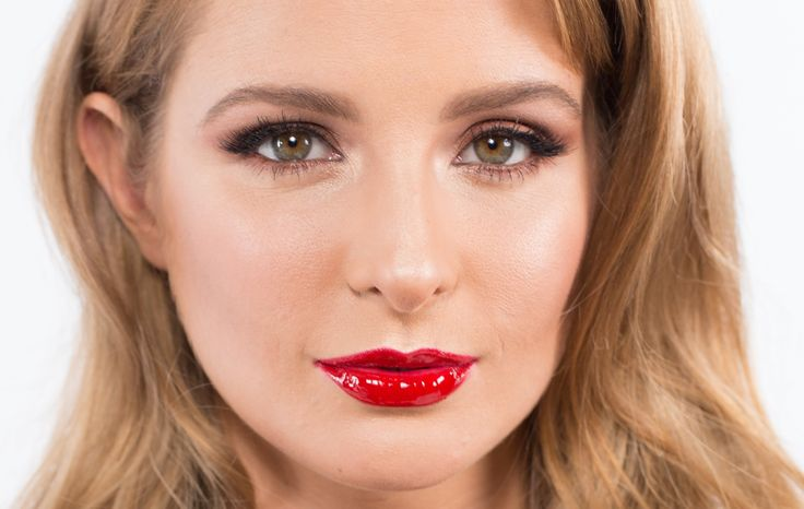 The Bombshell Make-up Tutorial - featuring Millie Mackintosh - Charlotte... #redlips Gorgeous glam makeup look