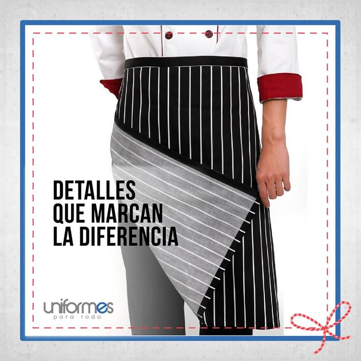 Dale a tu personal un delantal que lo haga destacarse entre la competencia. #UniformesParaTodo #Restaurante #Cocina #Marca #Competencia #Personalizar  www.uniformesparatodo.com