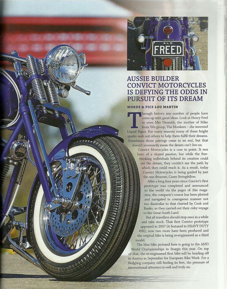 Convict cycles article - Heavy duty magazine