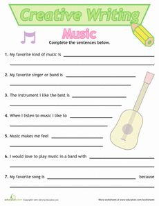 Grade  Free Grade   Creative Writing Worksheets Education com s