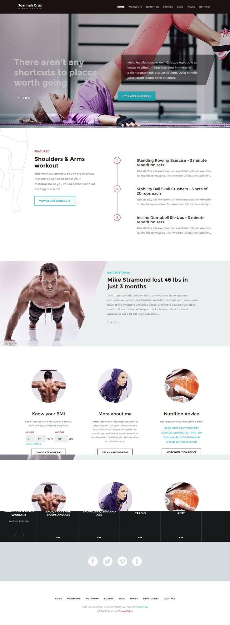 In Shape Responsive #WordPress Theme for Fitness Sites http://www.themesandmods.com/premium-wordpress-themes/shape/