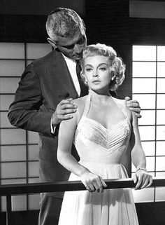 """Jeff Chandler, Lana Turner in """"The Lady Takes a Flyer"""" (1958)"""
