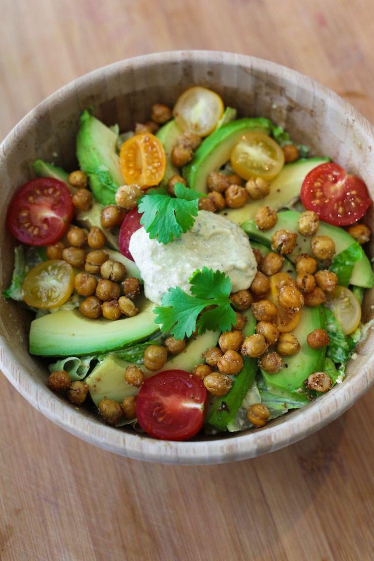 """Het lekkerste recept voor """"Vegan caesar salade"""" vind je bij njam! Ontdek nu meer dan duizenden smakelijke njam!-recepten voor alledaags kookplezier!"""