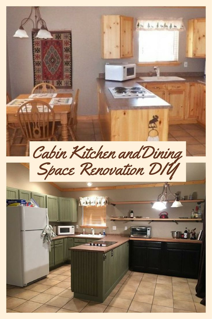 Cabin Kitchen and Dining Space Renovation DIY - They wanted more kitchen storage without remodeling. Look what they did instead: