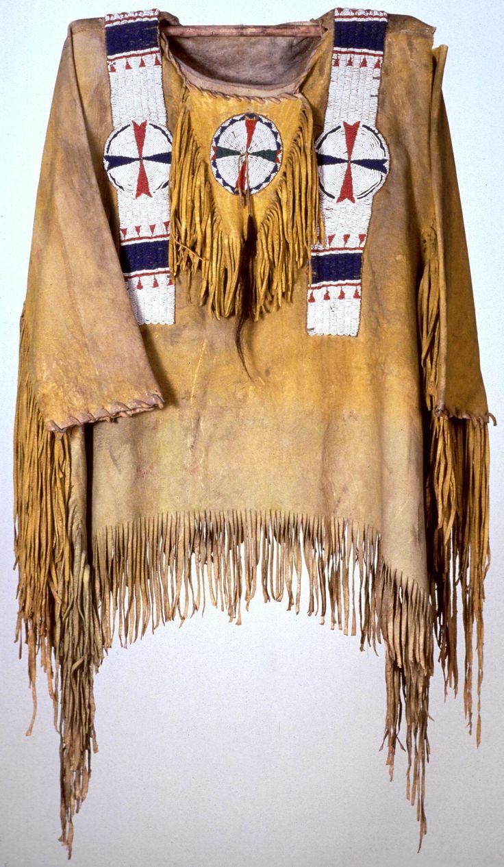 Men's shirt, Utah. The Coe Foundation. 1875. Buffalo Bill Center of West.