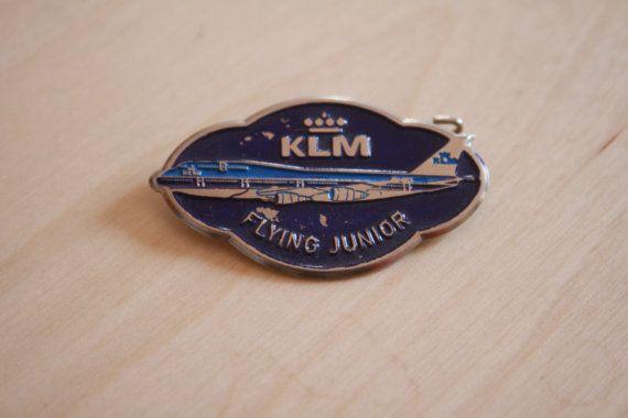 KLM flying junior Badge by AviationStuff on Etsy