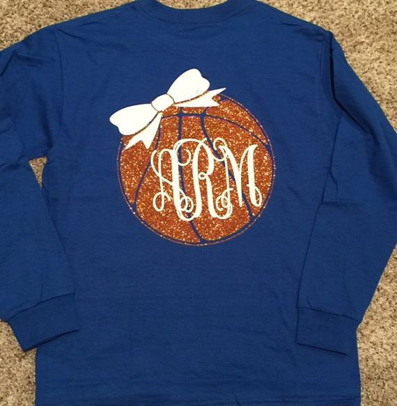 Basketball monogram Long Sleeved T-shirt by StellaGracedesigns4u
