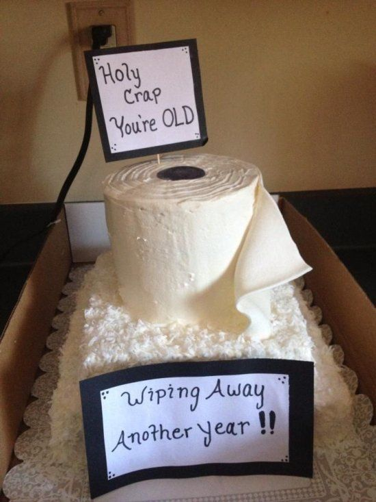 Toilet Paper Birthday Cake