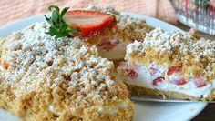 Basta una torta ed è subito estate: sbriciolata alle fragole e mascarpone (senza cottura)
