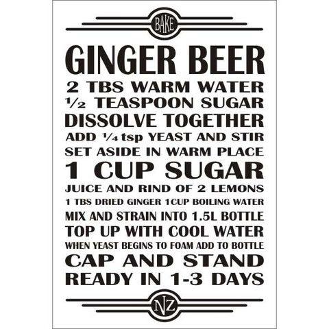 Recipe Magnet -  Ginger Beer