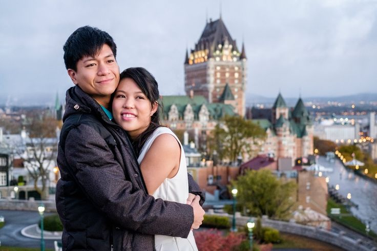Engagement photo around Quebec