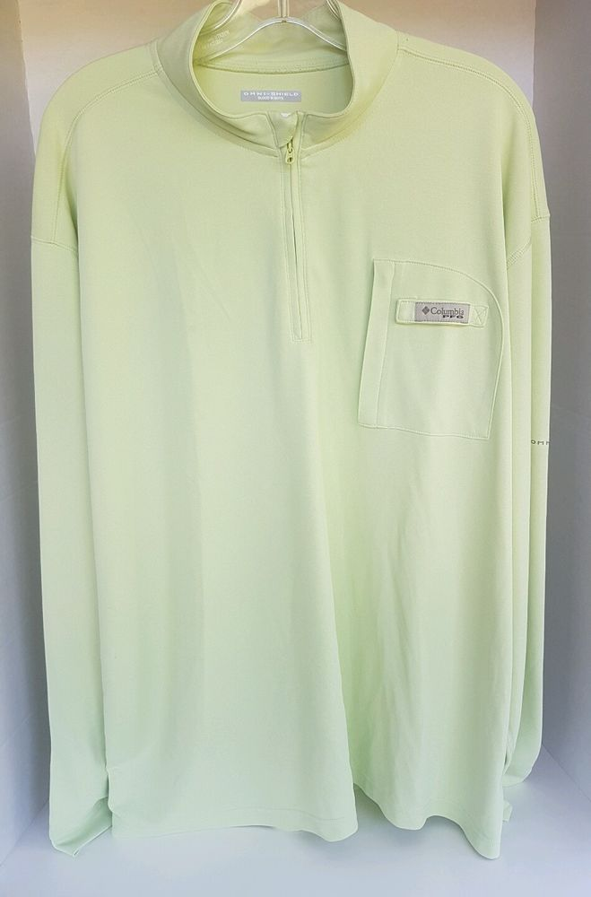 Men's Columbia Sportswear Omni Shield PFG Green Track Fishing Jacket XL | eBay