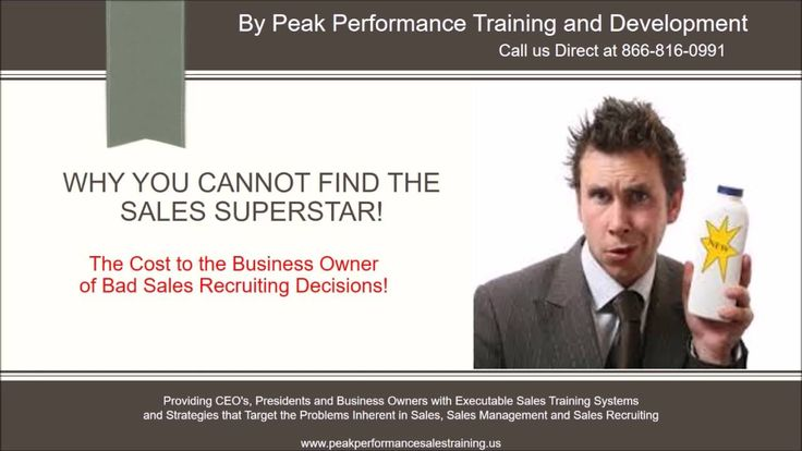 Sales Recruiting Spotlight: Why you can't hire the Sales Superstar! https://www.youtube.com/watch?v=Y3asiMREID8&feature=youtu.be #salestraining