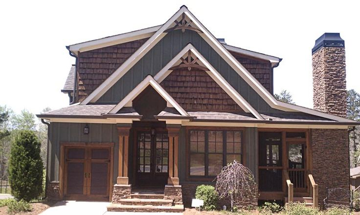 Best 25 rustic houses exterior ideas on pinterest cabin - Rustic home exterior color schemes ...