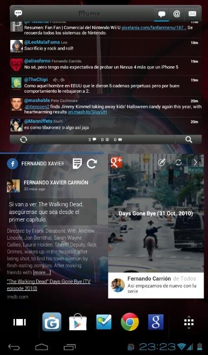 "Homescreen Samsumg Galaxy Tab 2.0 7"""