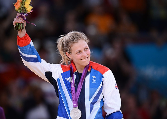 Team GB medals: Gemma Gibbons took silver in the women's under 78kg judo