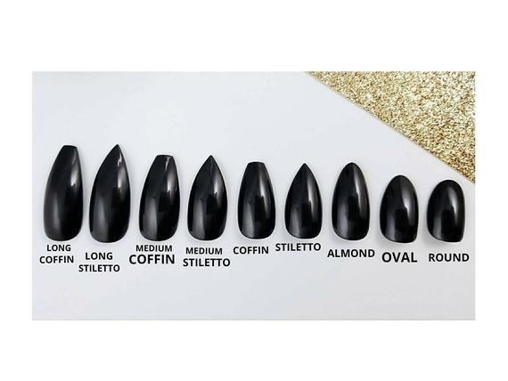 Pastell Lavendel Presse auf den Nägeln – Jede Form – Mehrweg-Maniküre – Sarg Stiletto … – French Nails