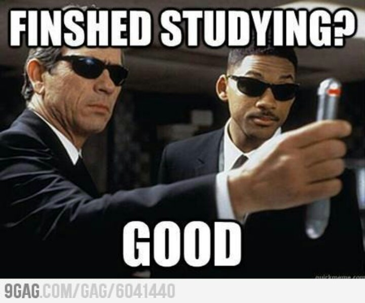 After every study session.
