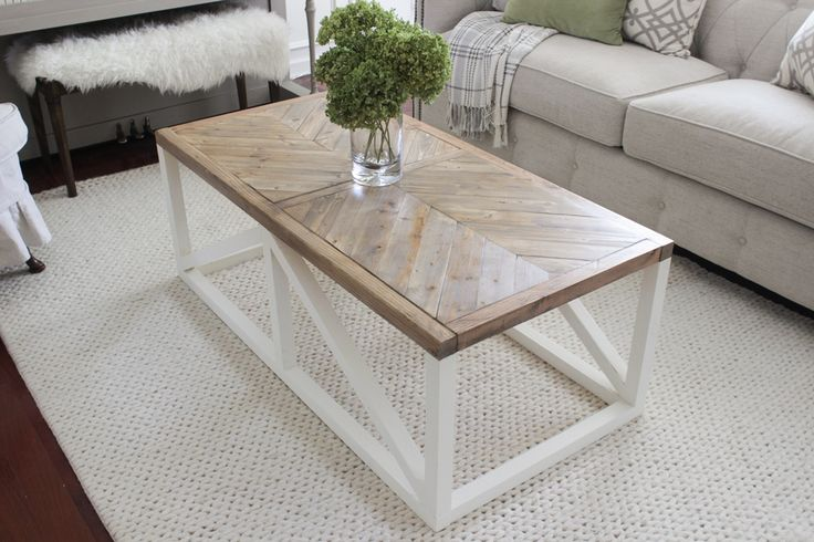 Best 25 chevron table ideas on pinterest patio table for Modern farmhouse table plans