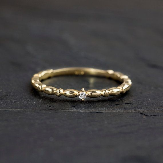 ... ring simple diamond ring yellow gold rose gold white gold option stack