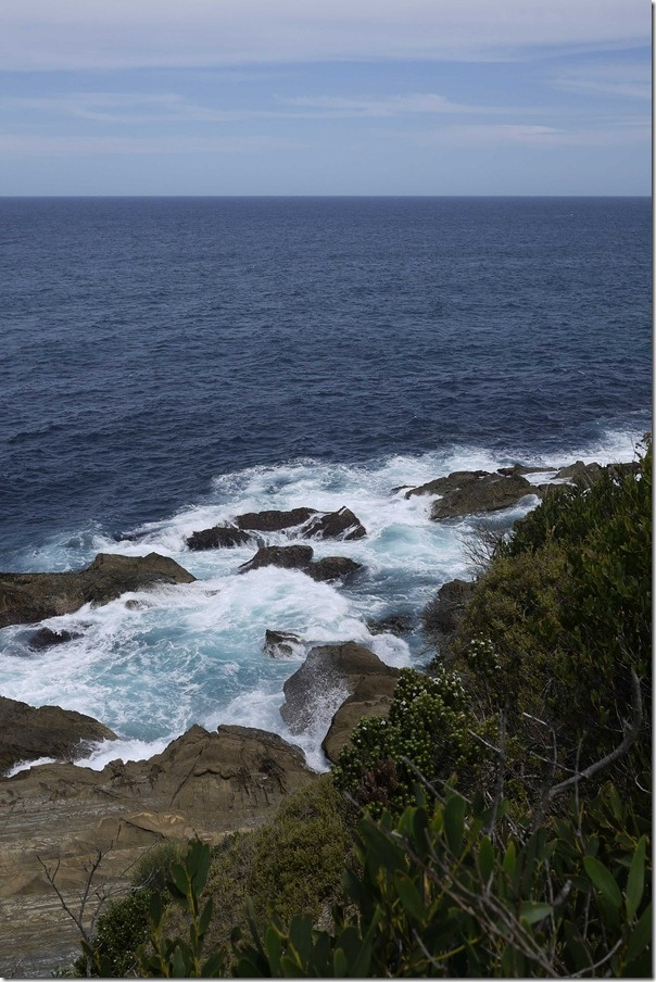 Cliff face at Moruya heads, South coast, New South Wales