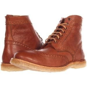 Frye Hudson Wingtip inicialização (Cognac Tombado completa grão) lace-up botas masculinas para venda.  A melhor qualidade de Frye Hudson Wingtip inicialização (Cognac Tombado completa grão) lace-up botas masculinas $ 338,00 por somoflove