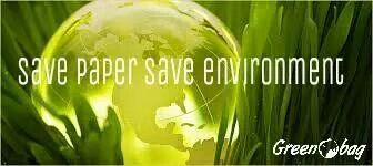 Save paper save environment