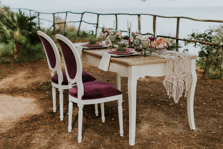 Photo by Intimate Love Memories - Organised and designed by Belli Momenti Weddings - Furniture and tableware from bellimomenti.gr - Flowers by Leonidas Rammos - Stationery by Love Me Do! - Macrame runner by Boho choco - Featured on @love4weddings