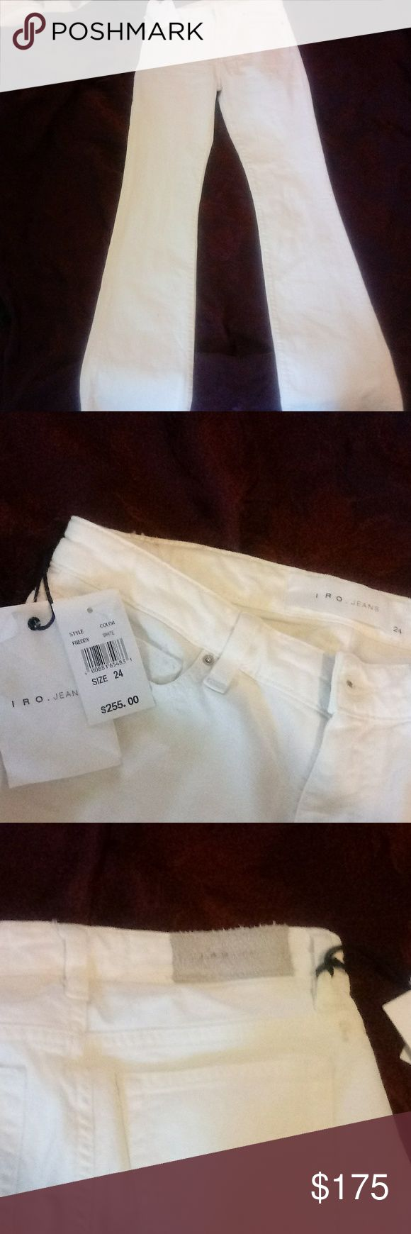 IRO jeans tags still on These are like new still have the tags on them they are 24 in the waist and awesome looking jeans all around be great for any tall slender girl Jeans Boot Cut