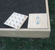 These wood templates will save you a lot of time making evenly-spaced planting holes.