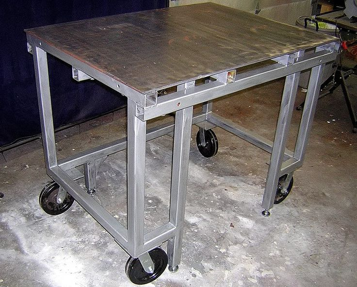 Welding table pics the garage journal board welding - Plan fabrication table ...