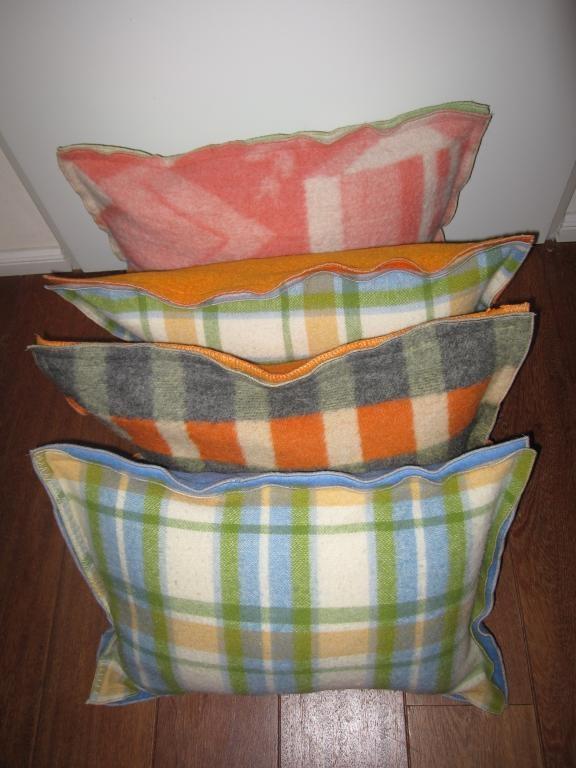 oude dekens worden kussens