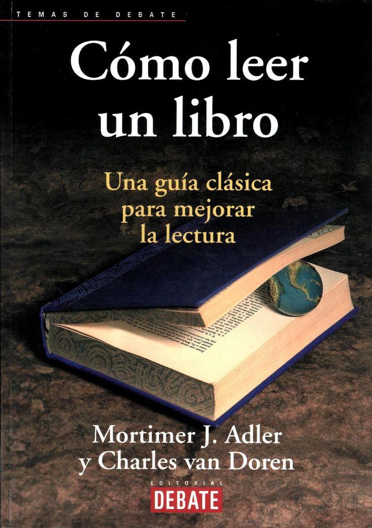 Libro cómo leer un libro mortimer adler