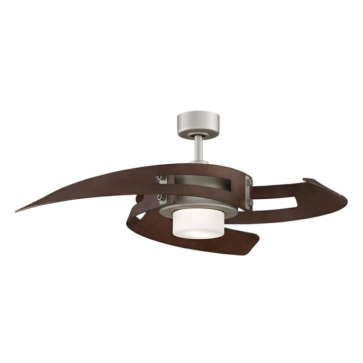 17 best ceiling fans images on pinterest light fixtures blankets fanimation satin nickel 2 light ceiling fan overstock shopping the best aloadofball Image collections