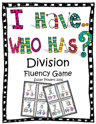 A Division I Have Who Has Game for Math Centres