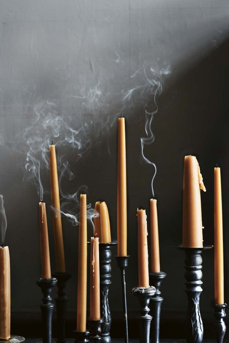 {<3} drippy beeswax tapers//Toast AW12 moravian style