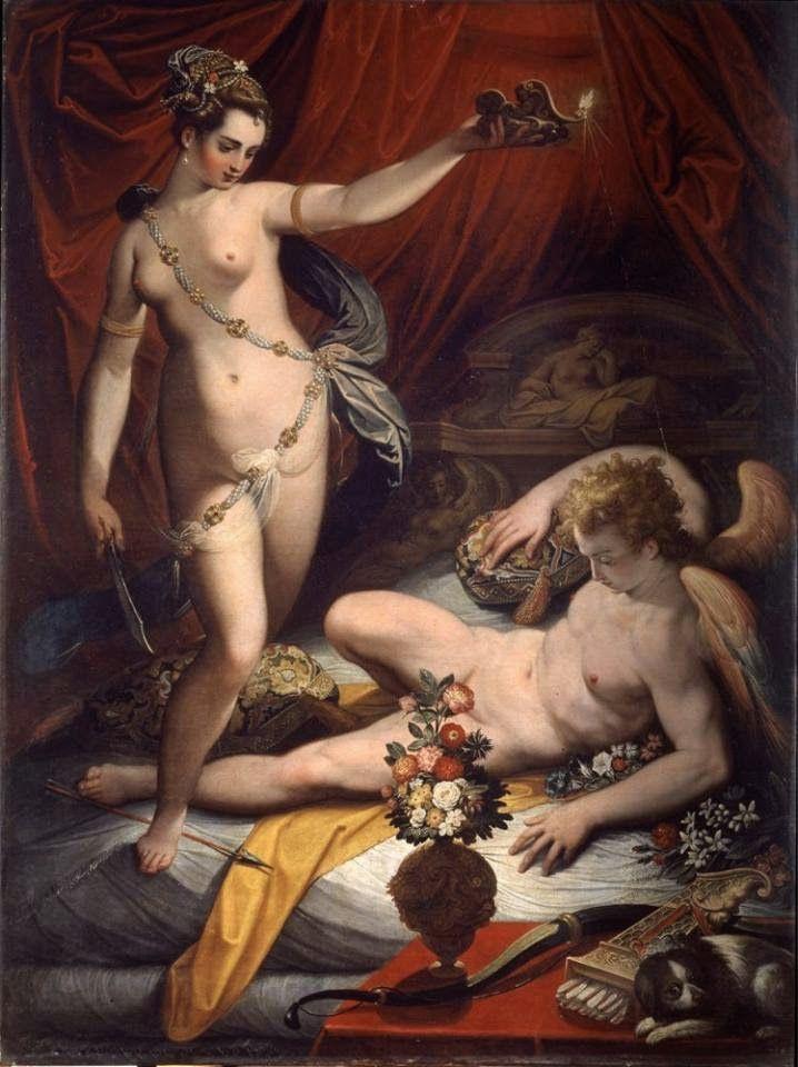 Jacopo Zucchi - Psiche scopre Amore, olio su tela, Roma Galleria Borghese    Psiche, e nulla possedevo, nulla! – Sibilla Aleramo   Psiche...