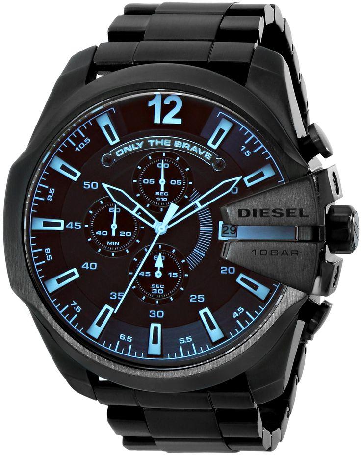Amazon.com: Diesel Men's DZ4318 Diesel Chief Series Analog Display Analog Quartz Black Watch: Diesel: Watches